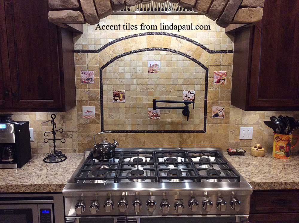 Decorative Tile Inserts -Backsplash