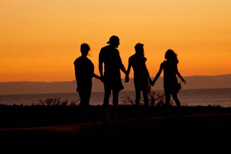 Het ideaal beeld van een gelukkig gezin