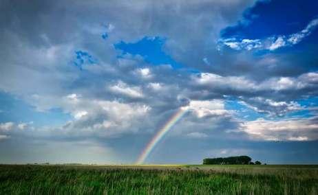 regenboog foto van Leo Wieling