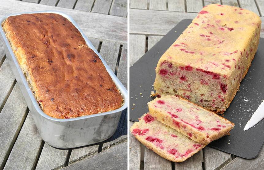 4. Grädda kakan längst ner i ugnen i 35–40 min. Ugnsvärmen kan variera i olika ugnar och med den gräddningstiden. Känn efter med en provsticka om kakan är klar. Låt kakan svalna i formen innan du stjälper upp den på en tallrik. Pudra över florsocker före servering.