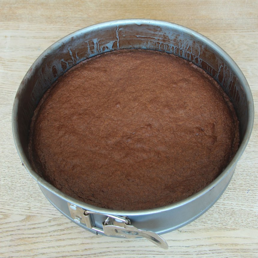 3. Grädda kakan i 18–22 min. Låt den kallna i formen.