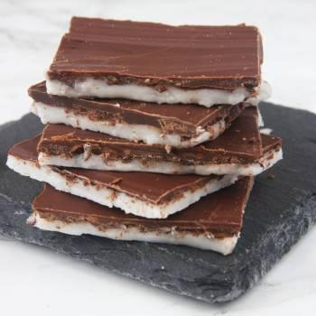 Ljuvligt goda mintchokladrutor –klicka på bilden för recept!
