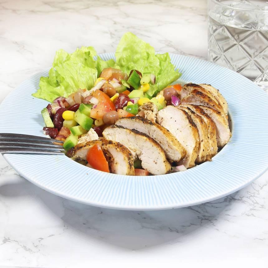kycklingbönsallad1