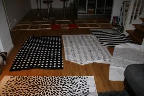 stoffer fra IKEA over hele stuen før nye bilder blir laget