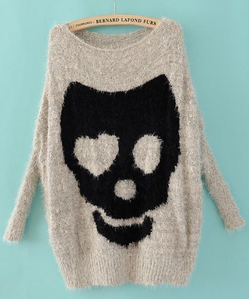 alternativ dorthe skappel genser dødningehode