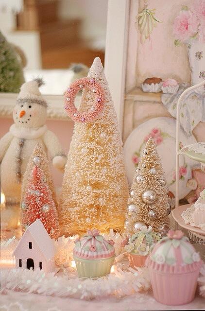 Pastell jul snømann