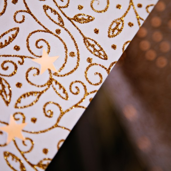 håndlagde papirstjerner mighty white detalj