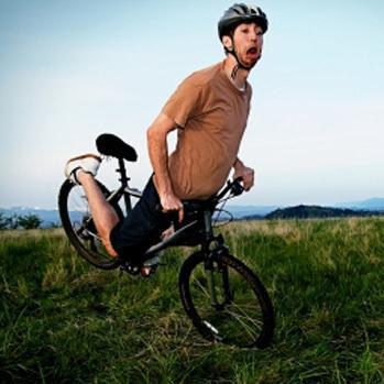 Stupe over styret på sykkel