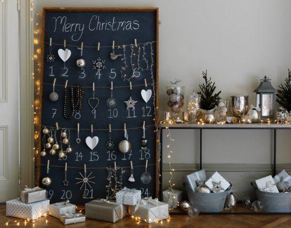 Adventkalender tavle og lys