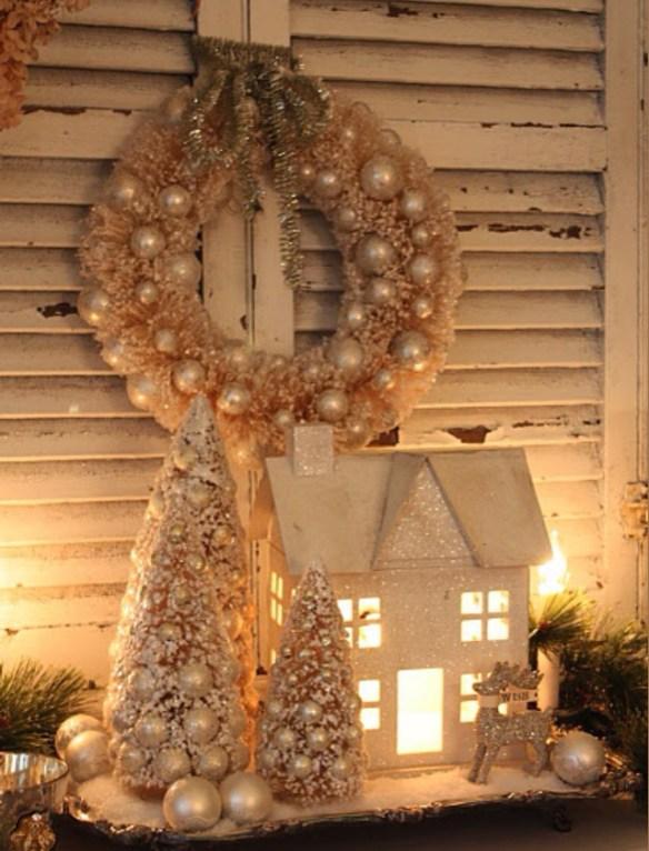 julehus med lys