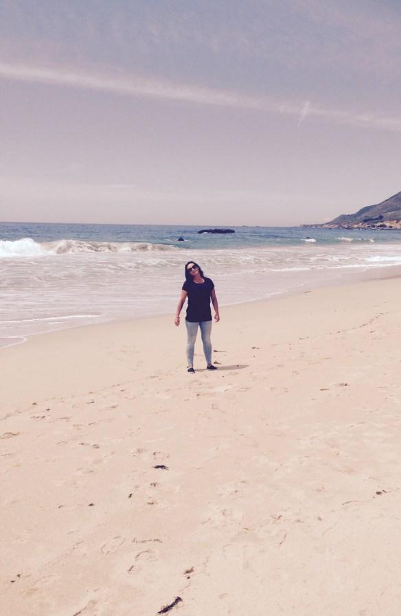 Strand på vei mot LA Linda 1