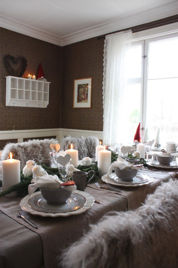 juledekket bord