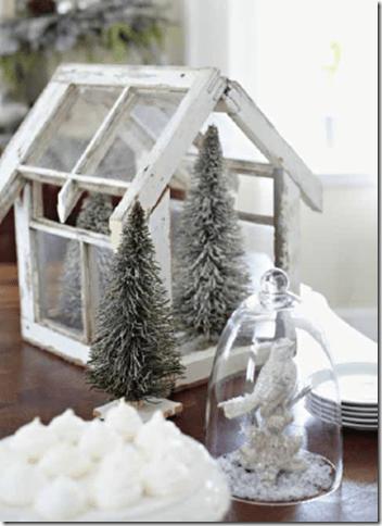 minijuletrær i minidrivhus