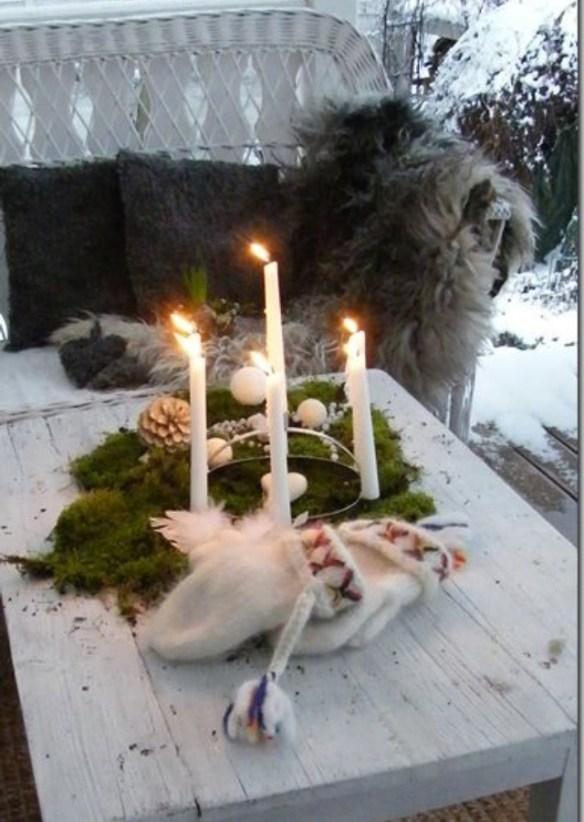 utendørs julepynt adventstake