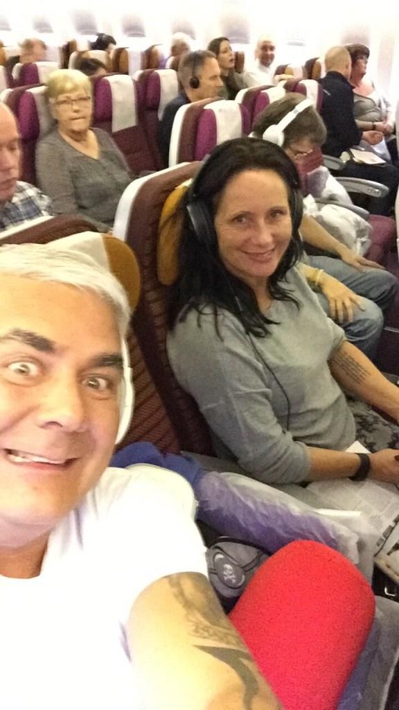 Flytur Oslo - Bangkok Linda og Geir