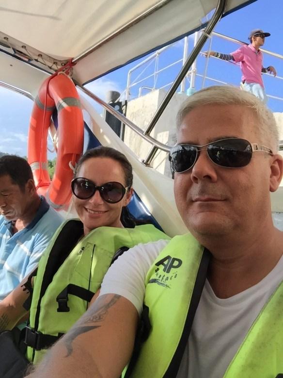Speedbåt fra Pak Bara til Koh Lipe Linda og Geir