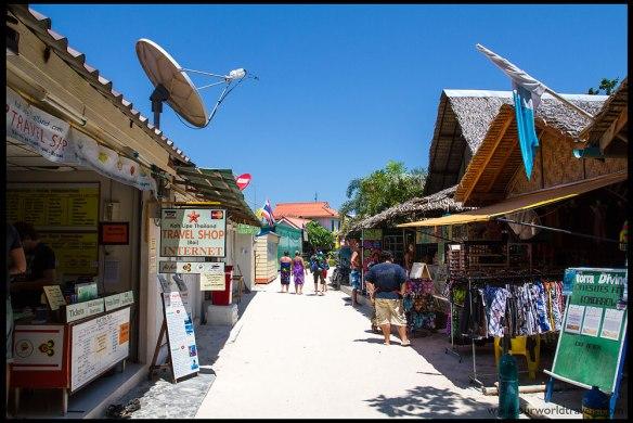 Walking Street near Pattaya Beach. Travelshops, internet cafes, restaurants, everything is available on Walking Street.