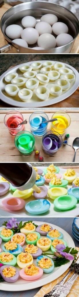 Egg farget med konditorfarge