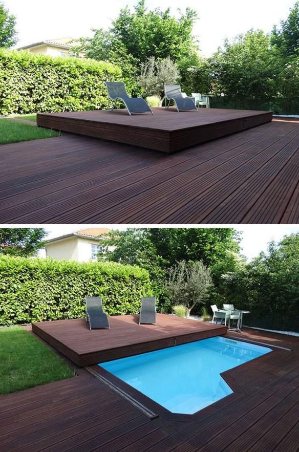 Lokk til basseng - skyvbart terrassedekke