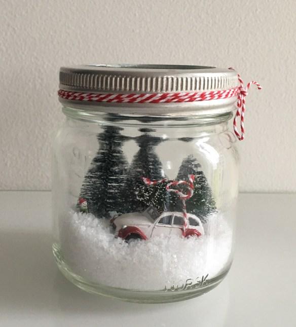 Julepynt hjemmelaget norgesglass jul på glass julebil