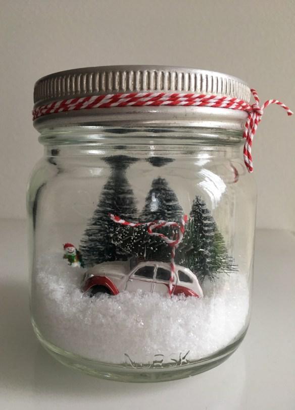 julebil i norgesglass hjemmelaget julepynt