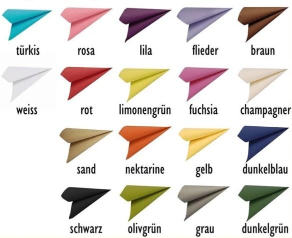 Servietter fargekart