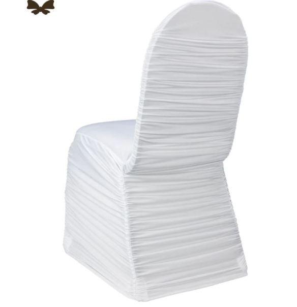 Stoltrekk rufflet hvit