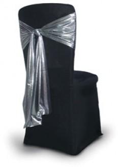 sorte stoltrekk med sølv sløyfe