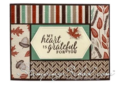 Fall Framed Strip Card