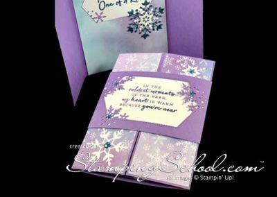 Snowflake Splendor: Belly Band Card