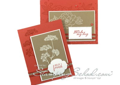 Queen Anne's Lace: White heat embossing