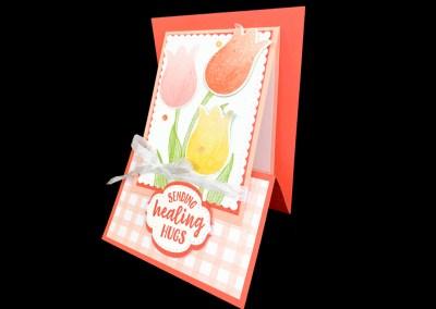 Tulips Z- Fold Easel Card