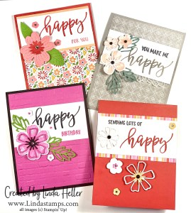 Video:  Four Happy Cards, One Easy Layout