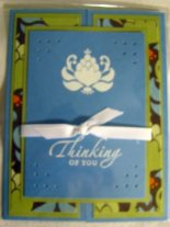 Gate fold card stamped by Deb Townsend