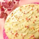 Baltās šokolādes kūka ar citrusu glazūru