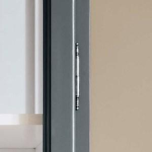 Close up image of Lindebjerg Design Classic V2 Vitrine Cabinet door hinge