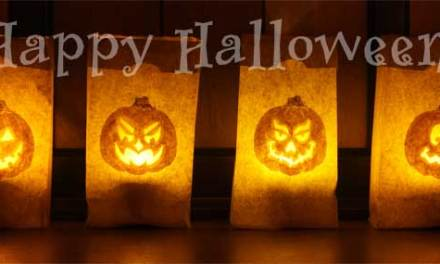 Halloween Luminaries – Pumpkin Carving with a Needle!