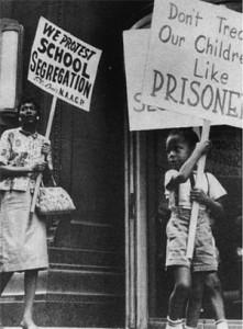 School segregation protest, USA