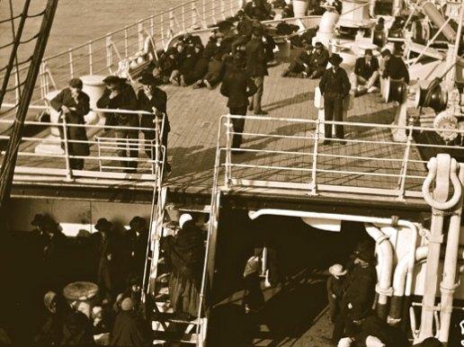 Emigranter på ss Deutschland 1909