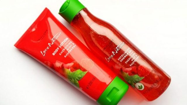 love nature gel dus lotiune corp strawberry mint oriflame