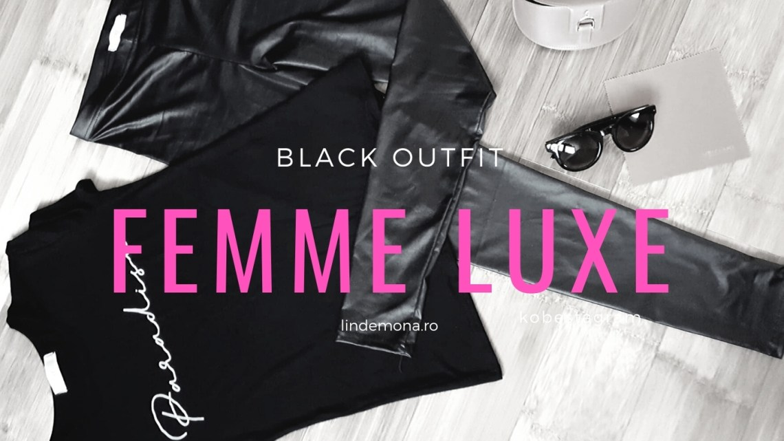 black outfit femme luxe lindemona