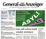 Titelbild Generalanzeiger vom 16.09.15