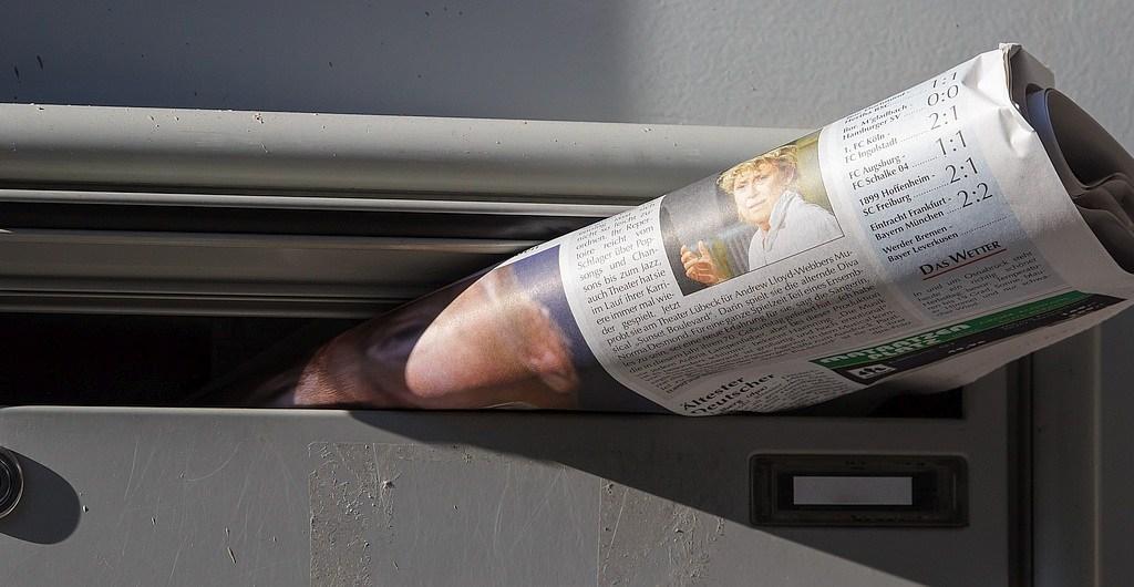 Zeitung im Briefkasten