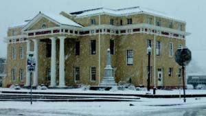 Photo of Courthouse in Snow by Sue Morris Lazara, 2013