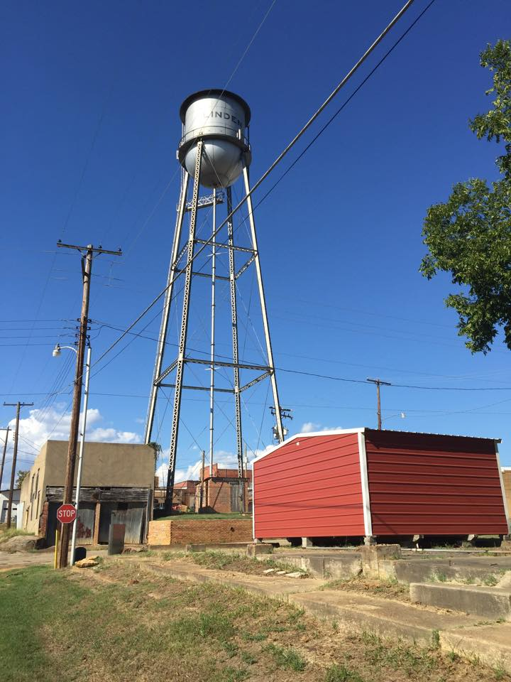 Firehouse and water tower photo by Barbara Teachey 12 September 2015