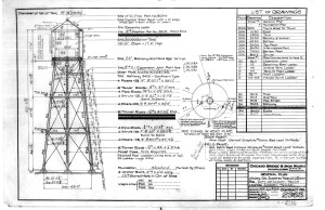 CBI 1932 Engineering Drawing of Water Tower