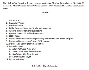City Council Agneda 14Dec2015