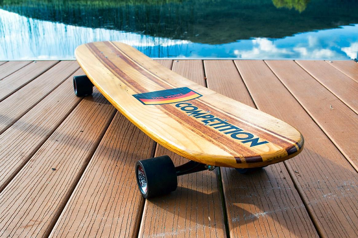 Vintage WESTERN WOOD Competion Trick Ski Longboard 3