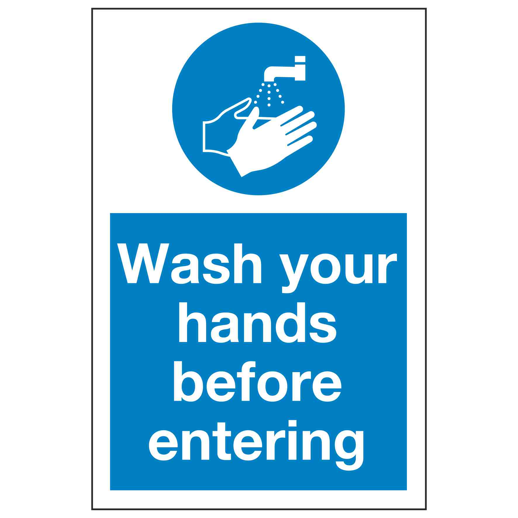 Wash Your Hands Before Entering Linden Signs Amp Print