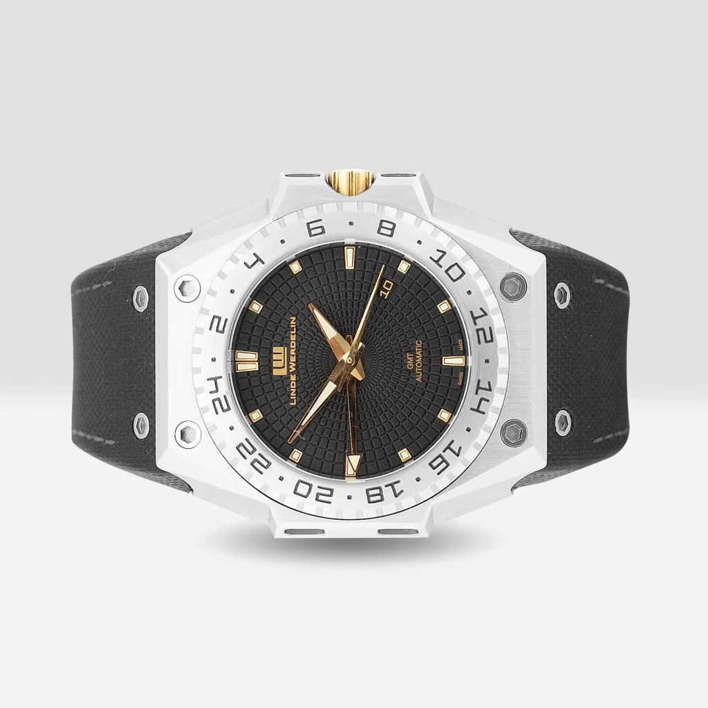 3 Timer Black Dial Gold Accents